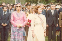 Mrs. Ford with the Shahbanou of Iran - 5/15/1975
